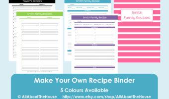 Make Your Own Personalised Printable Recipe Binder!