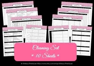 Cleaning schedules printable planner household binder