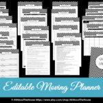 Moving Planner – Editable