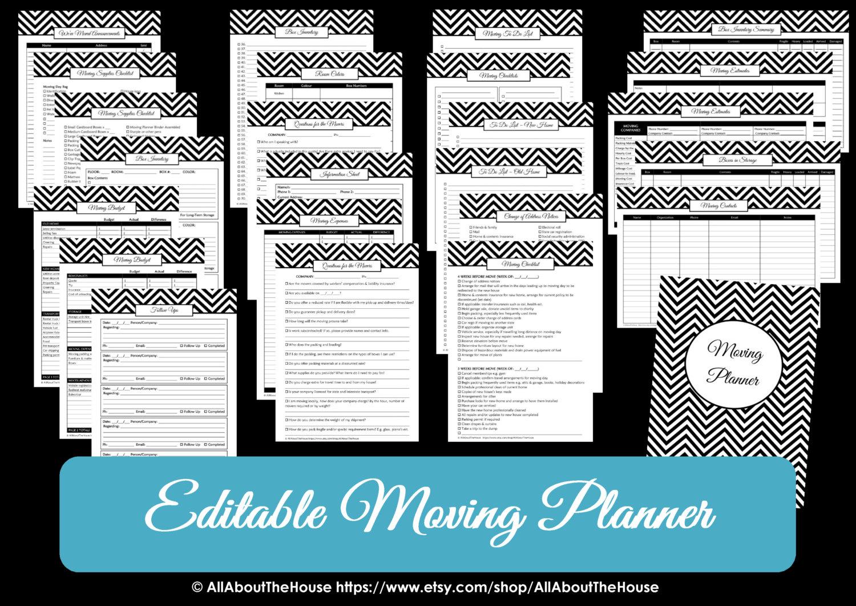 moving planner  u2013 editable