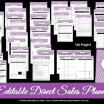 Printable Direct Sales Planner – EDITABLE