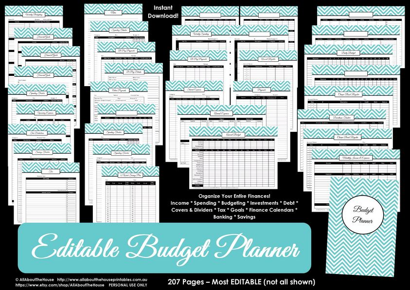 printable budget planner finance binder update all about planners