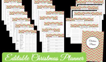 Christmas Planner – Editable Chevron