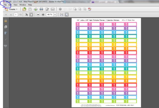 printable planner sticker printing tips diy planner organization