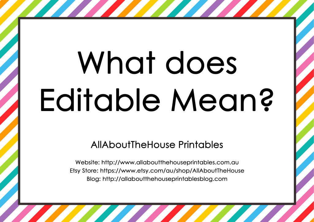 What does editable mean - editable printable planner pdf
