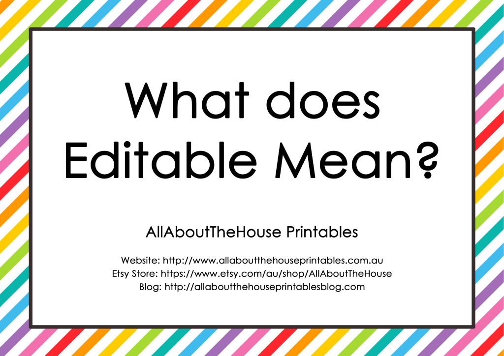 What does editable mean - editable printable planner pdf