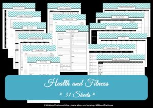 Health and fitness printable planner