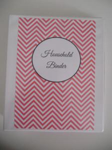 household binder printables chevron homekeeping binder