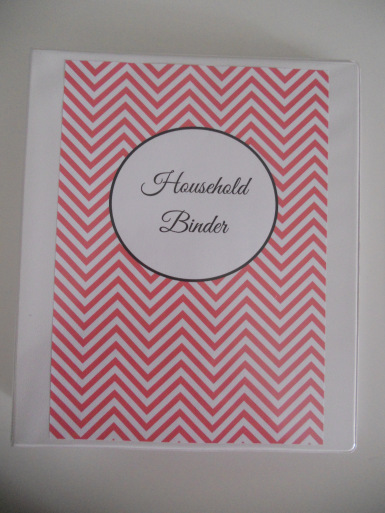 household binder printables chevron homekeeping binder