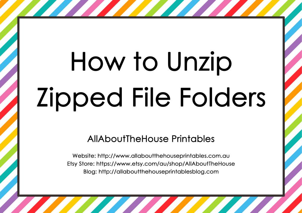 how to unzip zipped file folders