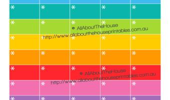 FREE Asterisk Planner Stickers Printable – DIY Downloadable PDF