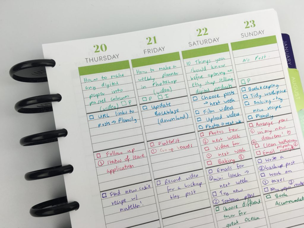 Weekly Planning Using The Plum Paper Me Planner 52