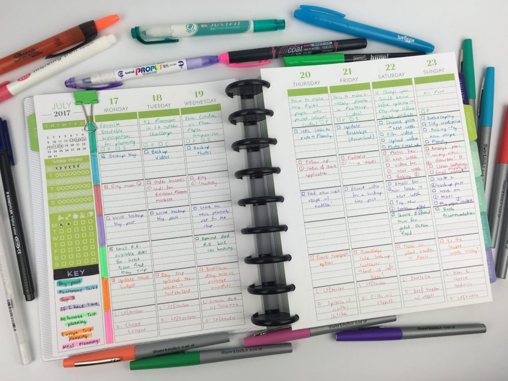 plum paper me planner review diy weekly spread how to color code your planner student blog business entrepreneur organized