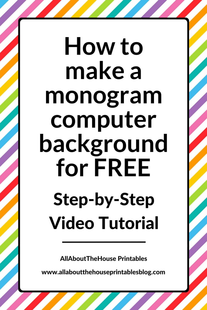 create a monogram wallpaper - photo #40