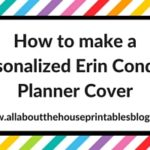 How to make a personalised Erin Condren Planner Cover