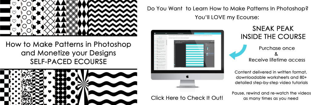 How to make patterns in photoshop and monetize your designs printable digital paper video tutorial textile design surface design fabric
