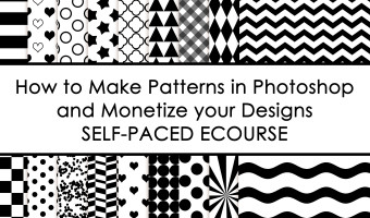 How to Make Patterns in Photoshop and Monetize Your Designs (my new Ecourse!)