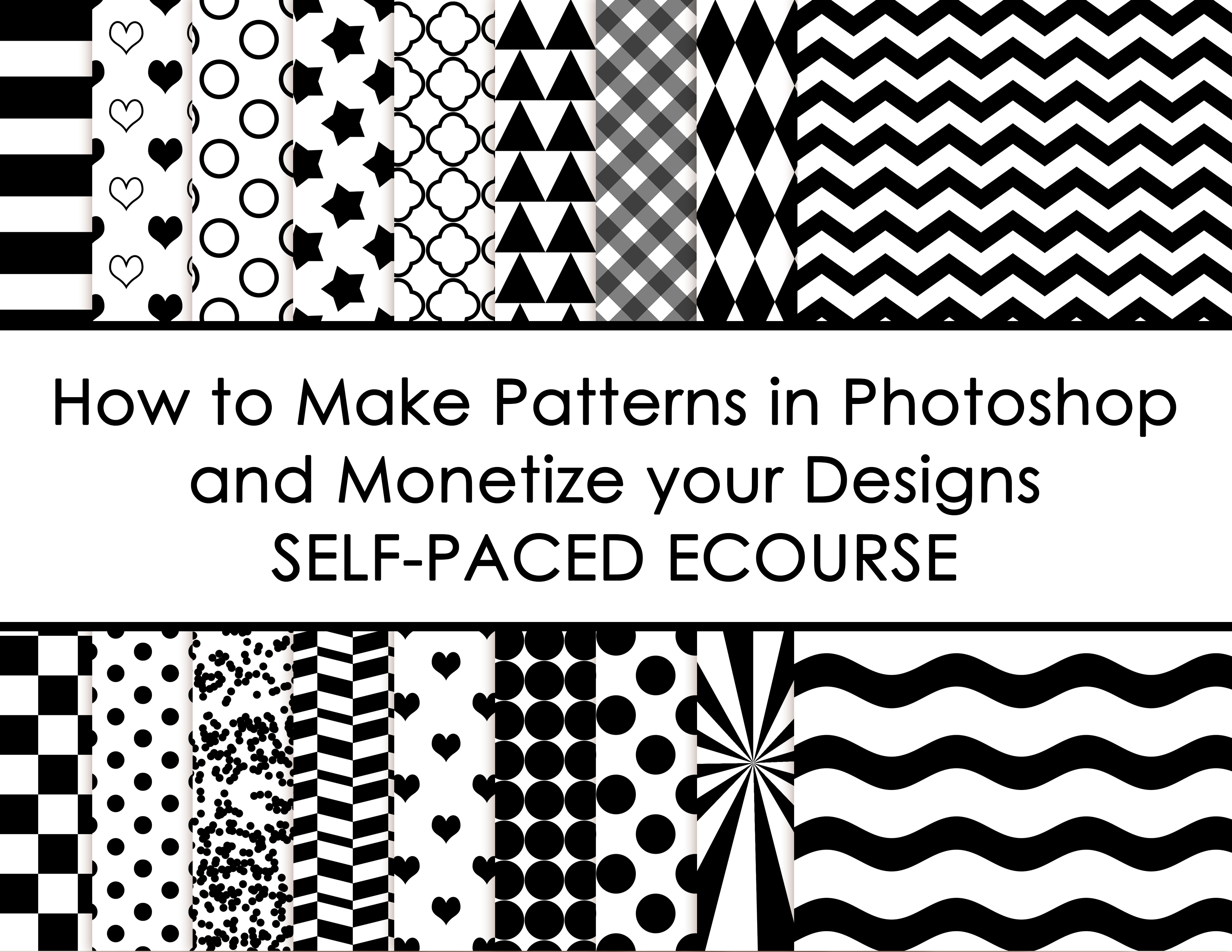 How to make patterns in photoshop and monetize your designs self paced ecourse allaboutthehouse surface design graphic design
