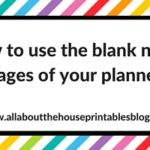 How to make use of blank pages in your planner