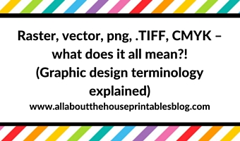 Raster, vector, png, .TIFF, CMYK – what does it all mean?! (Graphic design terminology explained)