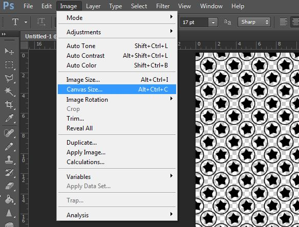 change image canvas size in photoshop