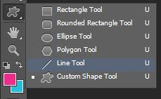 custom shape tool menu