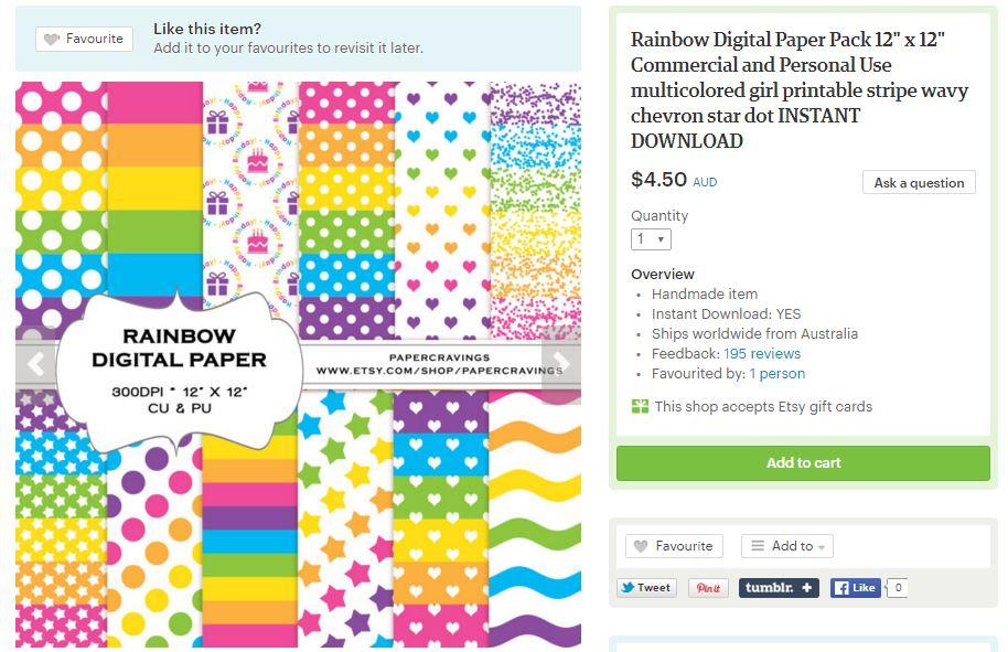digital paper printable papercravings rainbow multicolored
