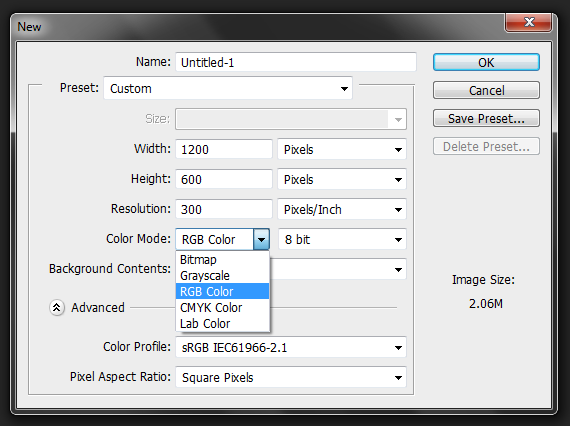 how to change color mode in photoshop