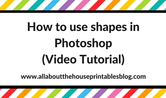 How to use shapes in Photoshop