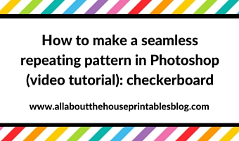 How to make a seamless repeating pattern in Photoshop (video tutorial): checkerboard