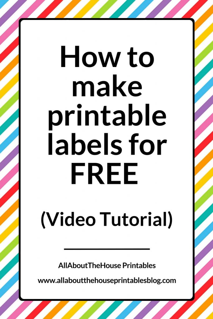 How To Make Printable Labels For Free Using Canva