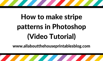 How to make stripe patterns in Photoshop video tutorial
