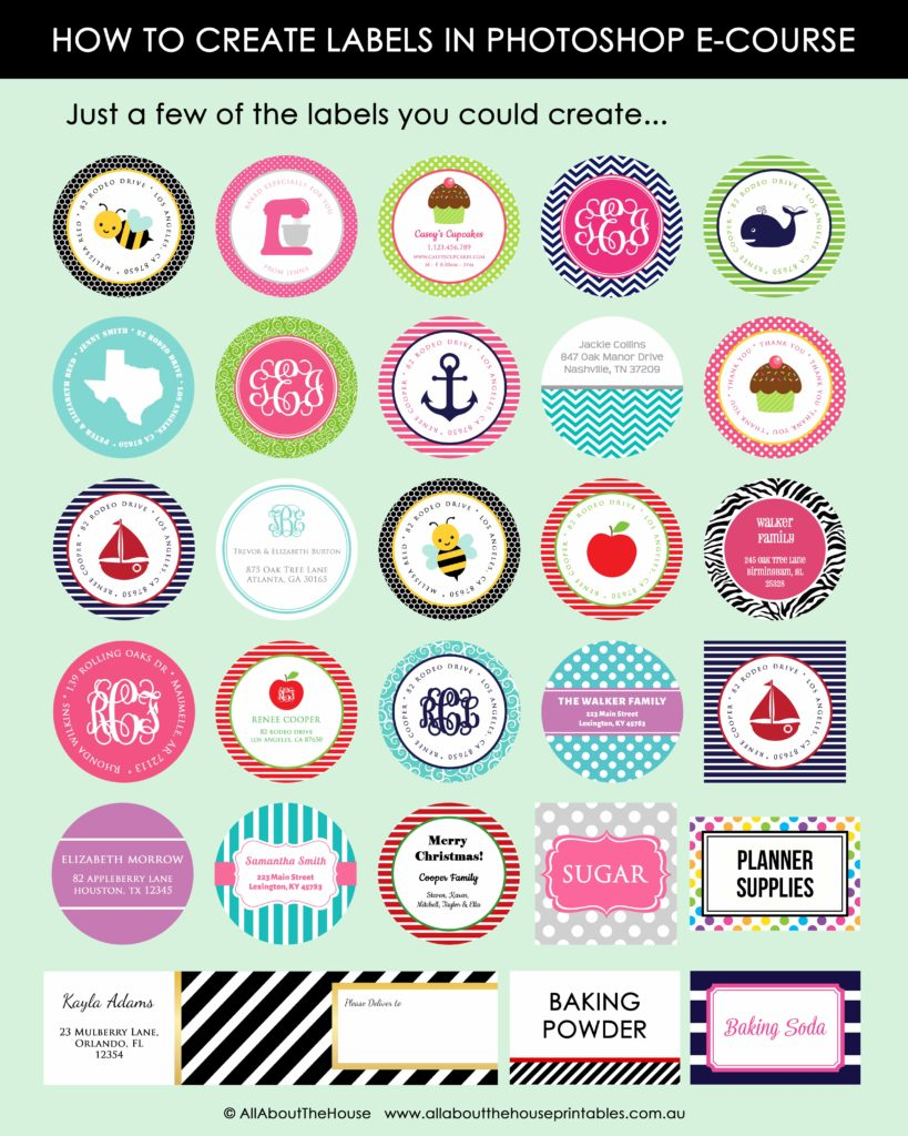 How to make printable labels in photoshop my new ecourse all about planners for Canva labels