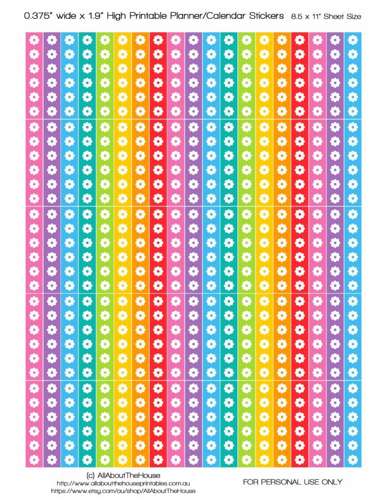 FREE erin condren life planner stickers vertical allaboutthehouse rainbow printable diy planner decor pdf jpg svg