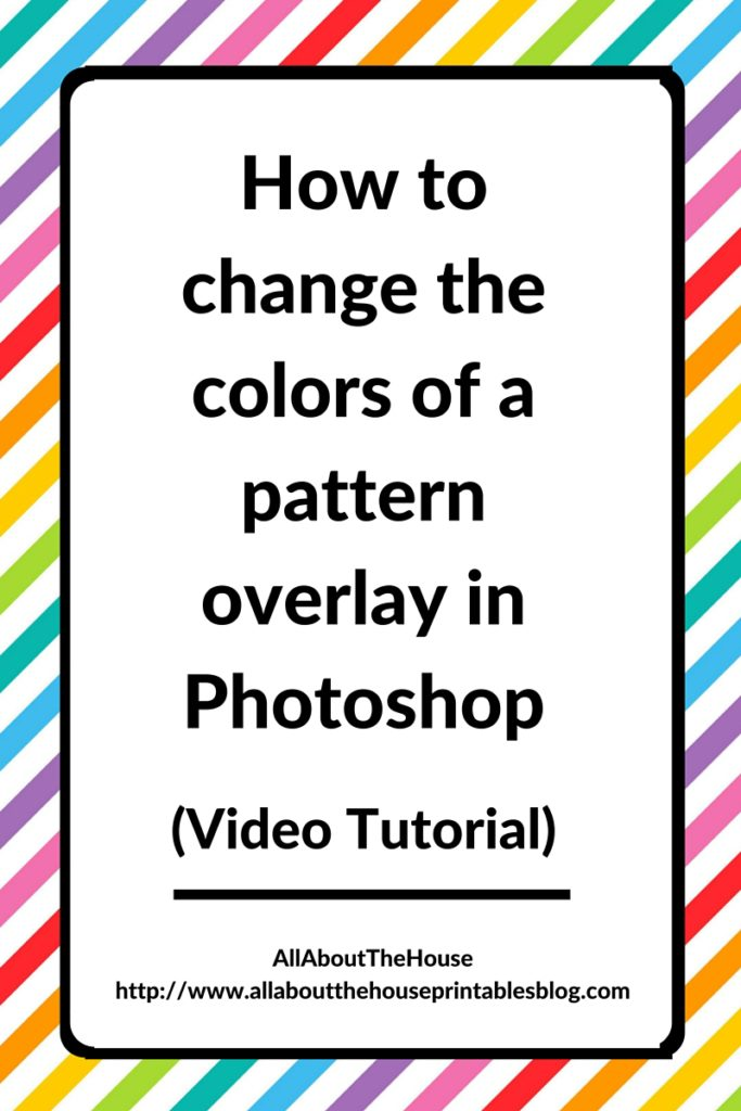 How To Change The Colors Of A Pattern Overlay In Photoshop