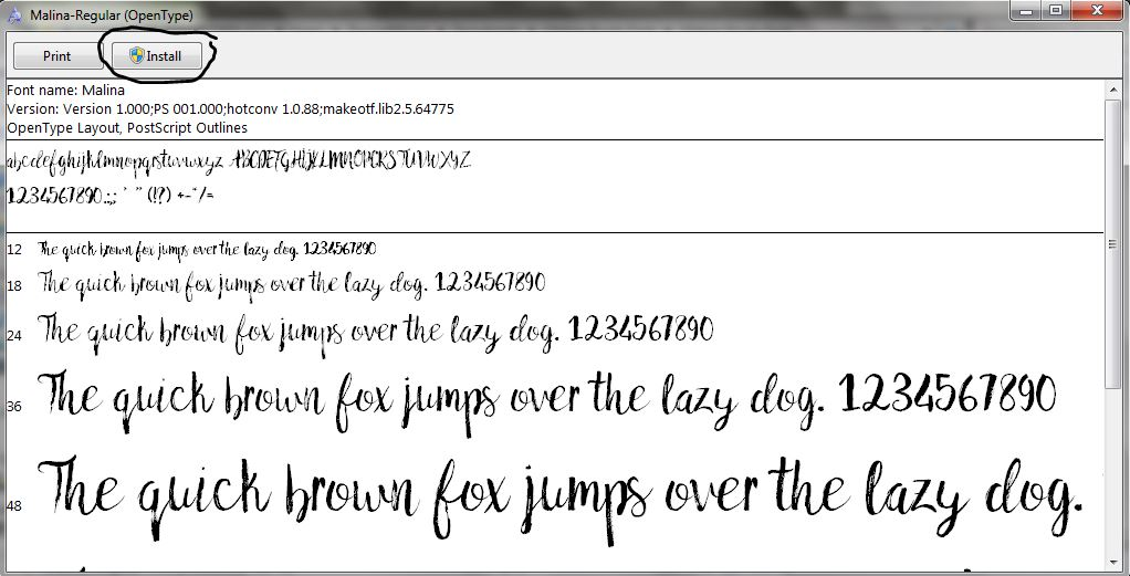 шрифт малина скачать