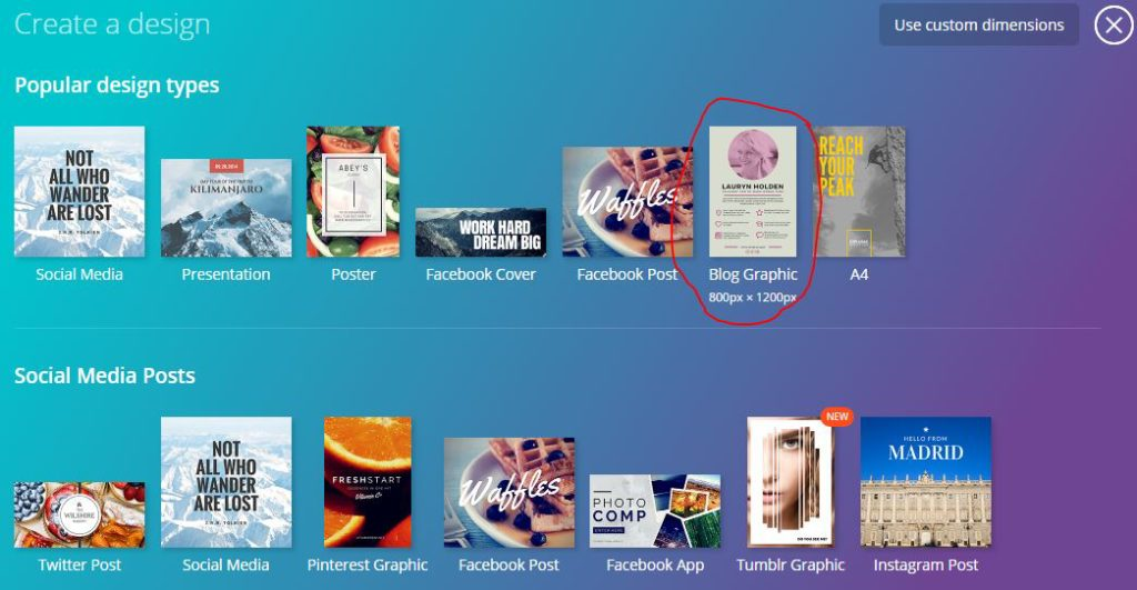 how to make blog images in canva video tutorial