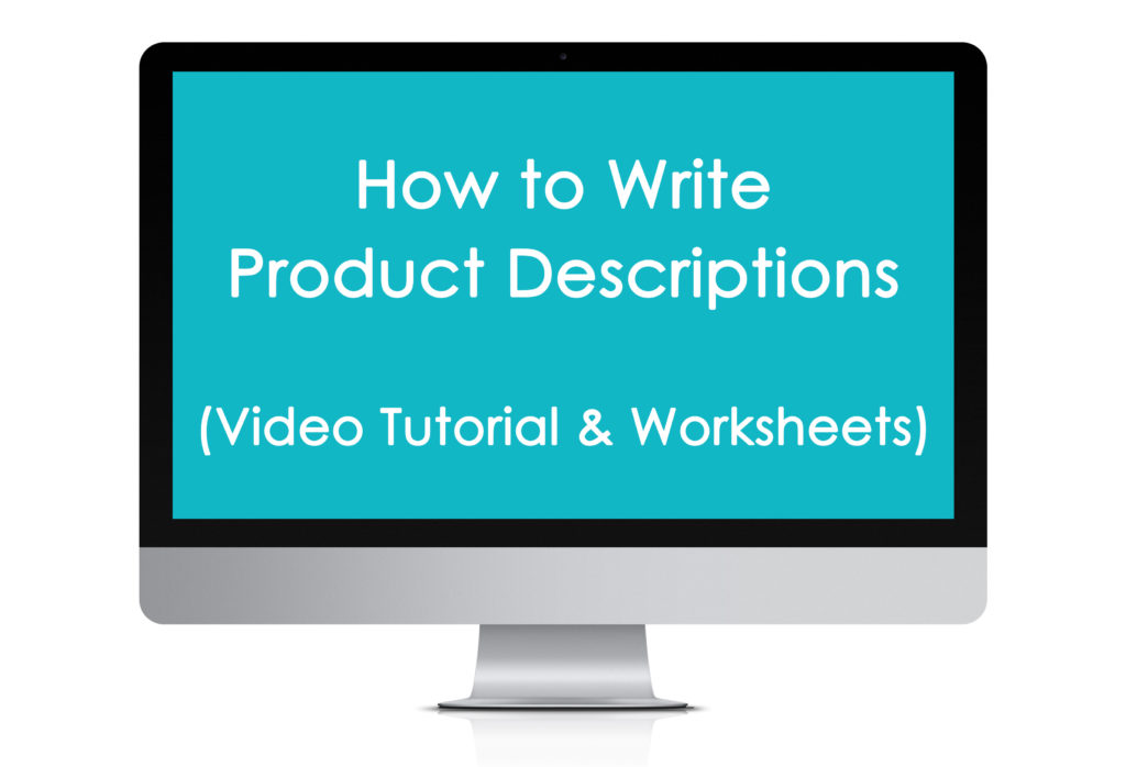 how to write product description ecourse copyrighting etsy listing online business marketing seo keyword worksheet printable