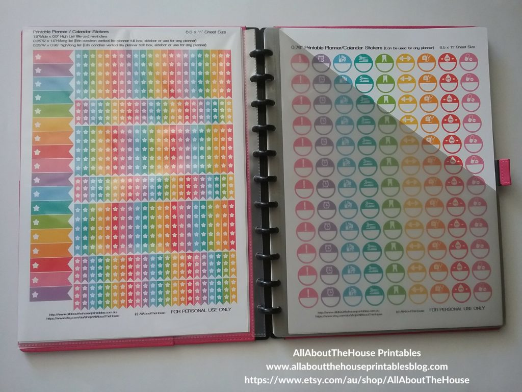 sticker organization printable planner stickers sticker binder calendar rainbow list silhouette diy print and cut arc notebook-min