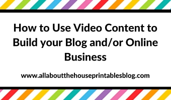 How to use video content to build your blog and/or online business