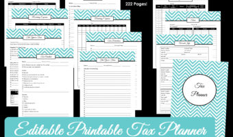 How to organize your taxes with a printable tax planner