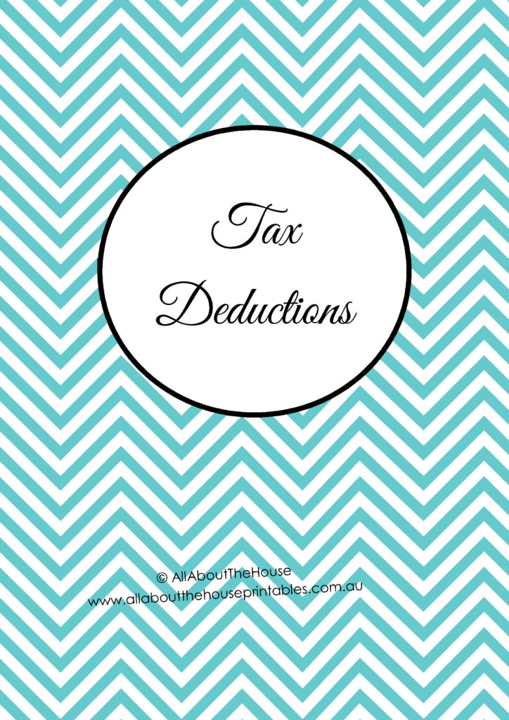 Taxes Planner Dividers tax deductions checklist printable planner how to organize taxes binder tool editable chevron