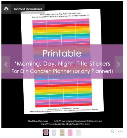 editable printable planner stickers erin condren vertical life planner rainbow planner accessory digital download