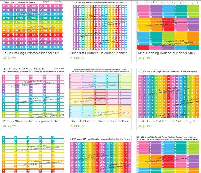list planner stickers printable rainbow planner accessory rainbow erin condren plum paper simplified planner checklist heart ombre day designer