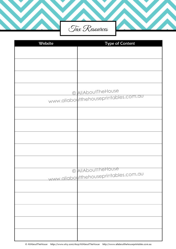 printable tax planner, tax binder, tax resources, what can i tax deduction, list of tax deductions, small business, direct sales