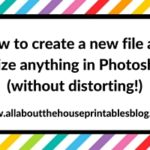 How to create a new file and resize anything in Photoshop (without distorting!)