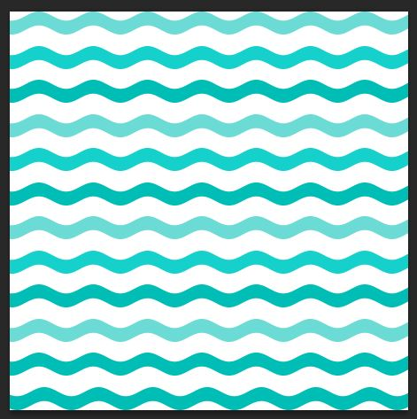 Ombre wavy lines example