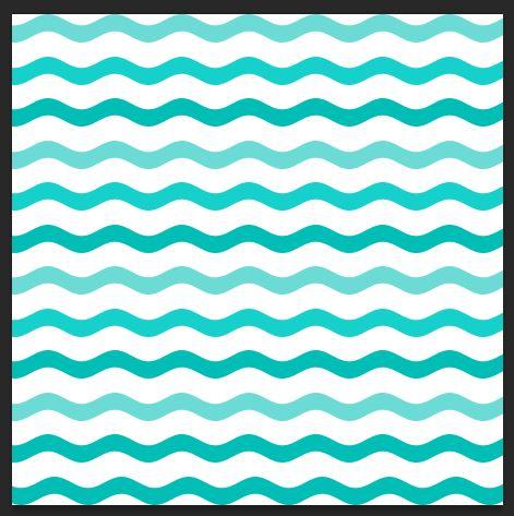 Ombre wavy lines example