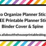 Planner Organization: How to organize planner stickers
