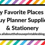 My favorite places to buy planner supplies & stationery